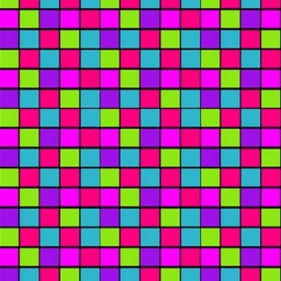 Blokjes gekleurd