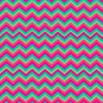 Retro zigzag paars groen